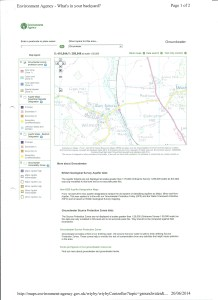 Environment Agency groundwater map