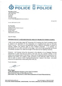 West Mercia Police letter 080414